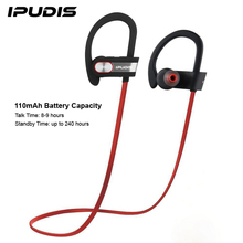 IPUDIS Sports Ear Hook Wireless Earphone Nano Coating Waterproof Bluetooth Earbuds with MIC 110mAh(China)