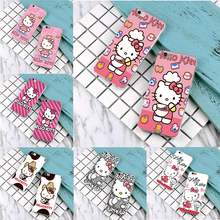New fashion hellokitty Case For iPhone 4 4s 5 5s 6 6s 7 plus cute cartoon Hello kitty cover samsung galaxy S3 S4 s5 s6 s7 edge