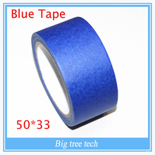 3D Printer Blue Tape 50mm wide 50m 50*33 Reprap bed tape, painters masking FOR 3D printer parts free shipping