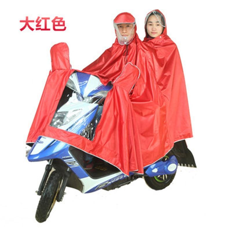 Motorcycle Raincoat Battery Car Rainwear Double Hooded Rain Poncho Raincoat Men Raincoat Women
