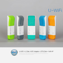 Wifi 150Mbps U001 Wireless WIFI USB 2.0 Flash Drive 16G Mini OTG USB Flash Drive Pen Drive Memory Usb Stick 5 Colors for choice(China)
