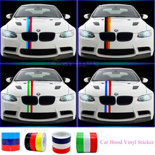3M/4M/5M/ M-Colored Germany Italy French Flag Striped Car Hood Vinyl Sticker Body Decal For BMW M3 M5 M6 E46 E92 Series