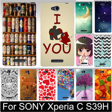 Classic Print Love You Beer Moon Cute Littel Girl Hood Phone Cases Covers For SONY Xperia C S39H C2305 Case Shell Free Shipping