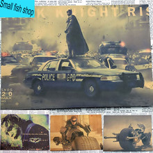 Batman Catwoman Robin Clown A gather Home Furnishing decoration Kraft Movie Poster Drawing core Wall stickers(China)