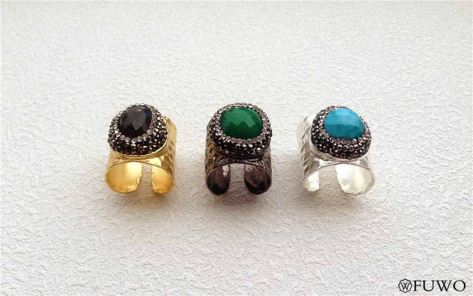 Carved Gem Stone Rings 7