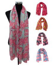 Vintage Flamingo Print Women's Large Scarf Shawl Wrap Gift, Free Shipping