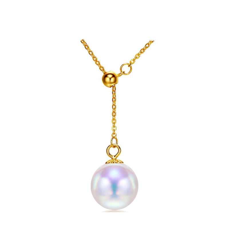 SINYA Trendy Multifunctional Pendant 8-8.5mm Pearl Pendant 18k Yellow Gold Chain& Akoya Pearl Pendant Necklace For Women Gift (22)