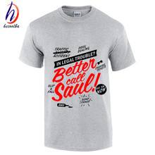 BETTER CALL SAUL Men T-shirt BREAKING BAD Los Pollos Hermanos Cotton Short Sleeve Round Neck Tops Tees Fashion T shirt,GT118