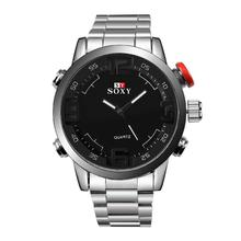 fashion sport best mens watches Quartz stainless steel watch Men Big Dial casual Watches Clock Wrist Watch luxury Brand gift boy