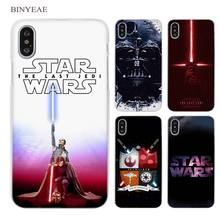 BINYEAE Star Wars Clear Cell Phone Case Cover for Apple iPhone X 6 6s 7 8 Plus 4 4s 5 5s SE 5c(China)