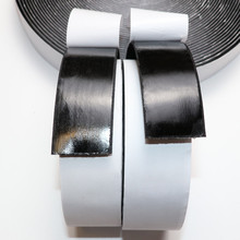30/38/50/100mm*5meter Black White Hook Loop Fastener Magic Sticker Self Adhesive Hooks Loops Disk Strip Tape With Glue(China)