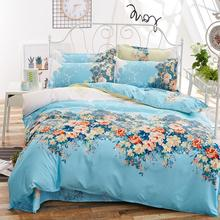 Villatic Bedding Set Pastoral style Ocean of flowers Duvet Cover Bed Sheet Retro Pillow Shams 4 pcs Single Twin Full Queen king