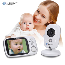 SUNLUXY 3.2 inch LCD Wireless Baby Monitor Babycam 2 Way Talk IR Night Vision Alarm Clock VOX Security Camera Music Temperature