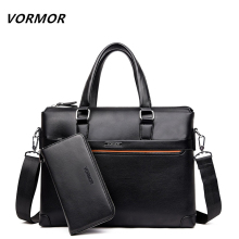 VORMOR 2 Set Handbag Men Messenger Bags PU Leather Man Bags Fashion Male Men's Briefcase Man Casual Shoulder Bag(China)