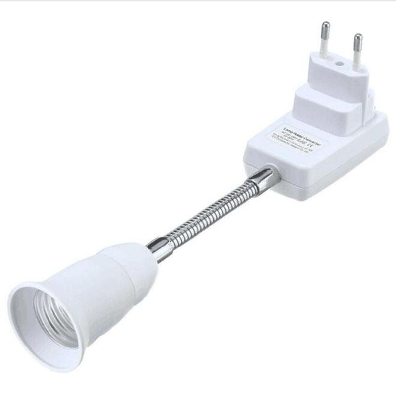 0623 E27 Light Lamp Bulb Holder Flexible Extension Converter Switch Adapter Socket 1