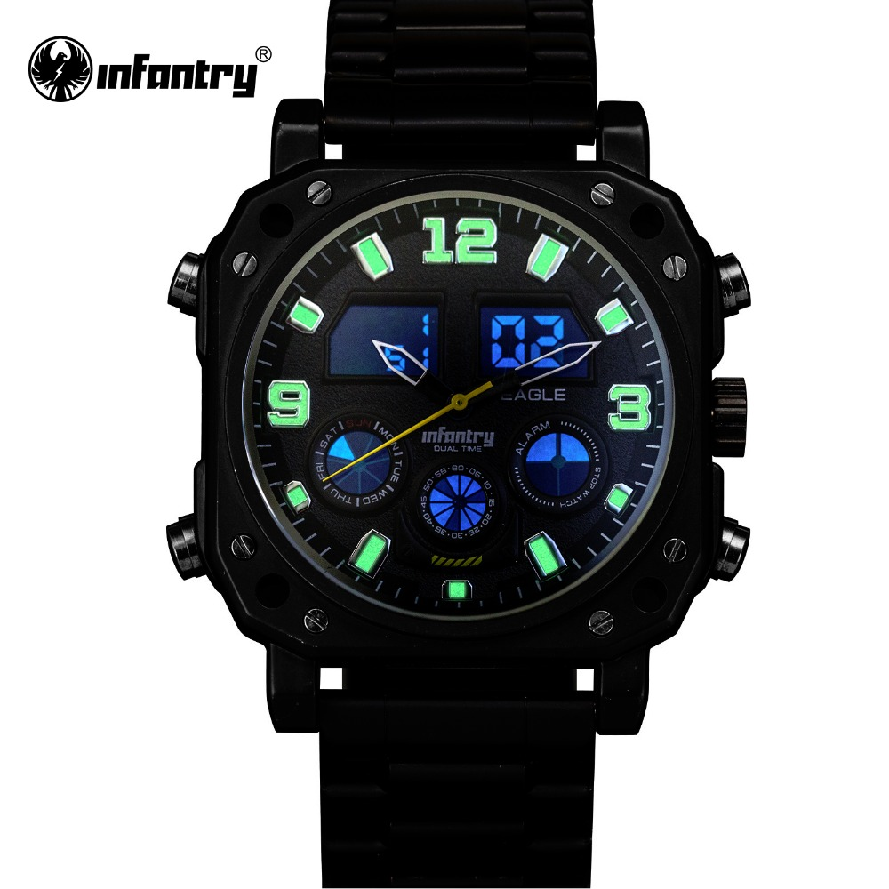 INFANTRY Men Watches Luxury Chronograph Date Day Indication Male Clock Waterproof Military Digital Watch Relogio Masculino<br><br>Aliexpress