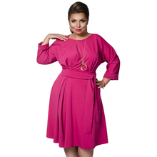 Buy 2018 Spring Summer Dress Batwing Sleeve Flare Casual Dress Plus Size Women Clothing 5XL 6XL Big Size Women Dress Female Vestidos for $17.94 in AliExpress store