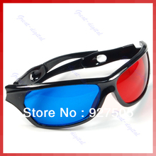 5pcs/lot Red & Blue Cyan Anaglyph 3D Glasses for Movie Game DVD