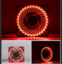 2PCS lot Eclipse Red Led 32 linght Ultra Quiet Silent 4Pin 3Pin 120mm 12cm PC Case Cooling fan