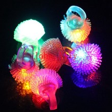 2000pcs/lot Free Shipping Soft Flicker Ring Fashion Silicone Led Finger Ring For Wedding Party Kis and Adult Luminous Toys(China)