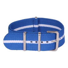 Nato NEW Nylon Watch 22 mm MultiColor Blue White Red Army Military fabric Woven watchbands Strap Band Buckle belt 22mm(China)