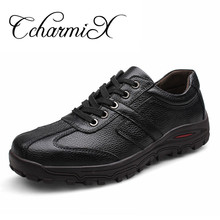 CcharmiX Men Plus size 46,47,48 Dropshipping Fashion Men shoes Genuine Leather Fashion Men's Casual shoes Male Formal Creepers