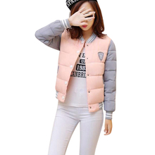 2017 Women Jacket Winter short Coat women Slim autumn and winter fashion Thick female baseball Outwear padded  Wadding Ladies