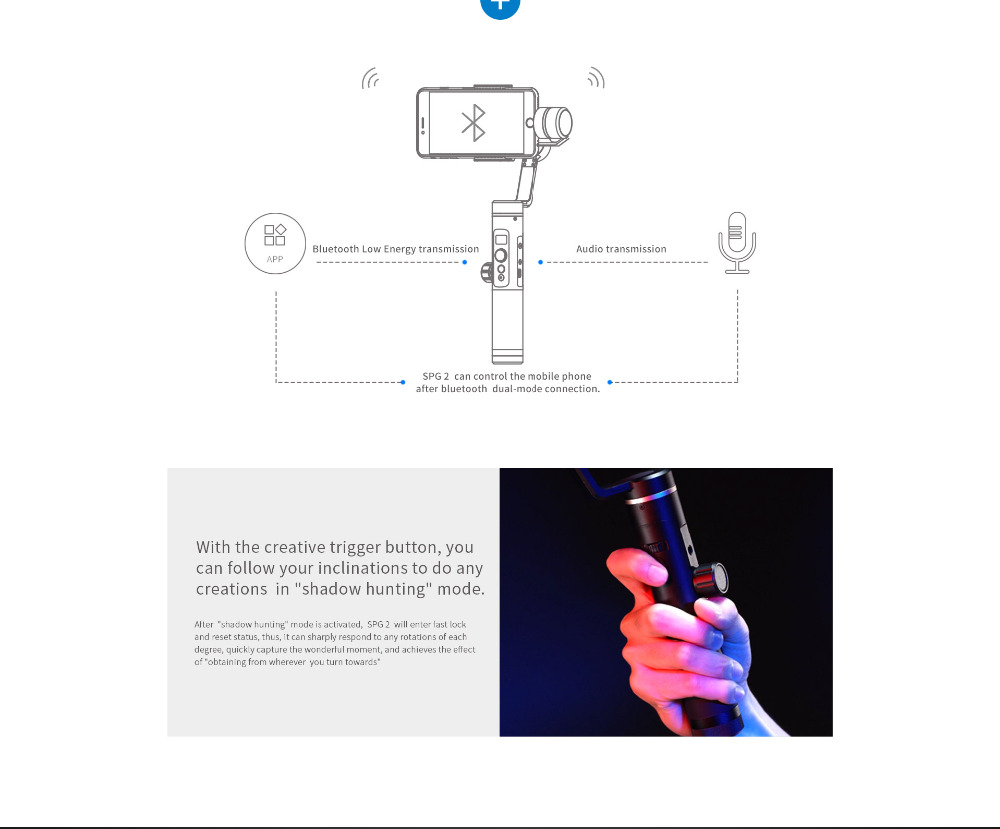 FeiyuTech Feiyu SPG2 3-Axis Handheld Stabilizer Gimbal with Follow Focus for Smartphone iphone X 8 7 OPPO Samsung Note 8 ViVO 4