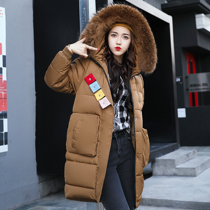 RYTISLO 2017 Winter Coat Women Slim Plus Size Outwear Medium-Long Wadded Jacket Thick Hooded Cotton Fleece Warm Cotton ParkasÎäåæäà è àêñåññóàðû<br><br>