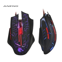 2017 Brand NEW HOT! H800 LED USB Wired Optical Gaming Mouse Mice 5500 DPI For PC Gamer Computer Mice & Keyboards Accessory