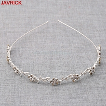 1 PC Girls Women Wedding Head Evening Princess Bridal Crown Silver-plated Rhinestone Tiara Hoop Headband Hair Band Accessories(China)