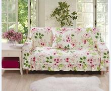 European pastoral  floral heavy canvas for four seasons anti-skid  Sofa  slipcover couch cove 1 piece price 13 colours free ship