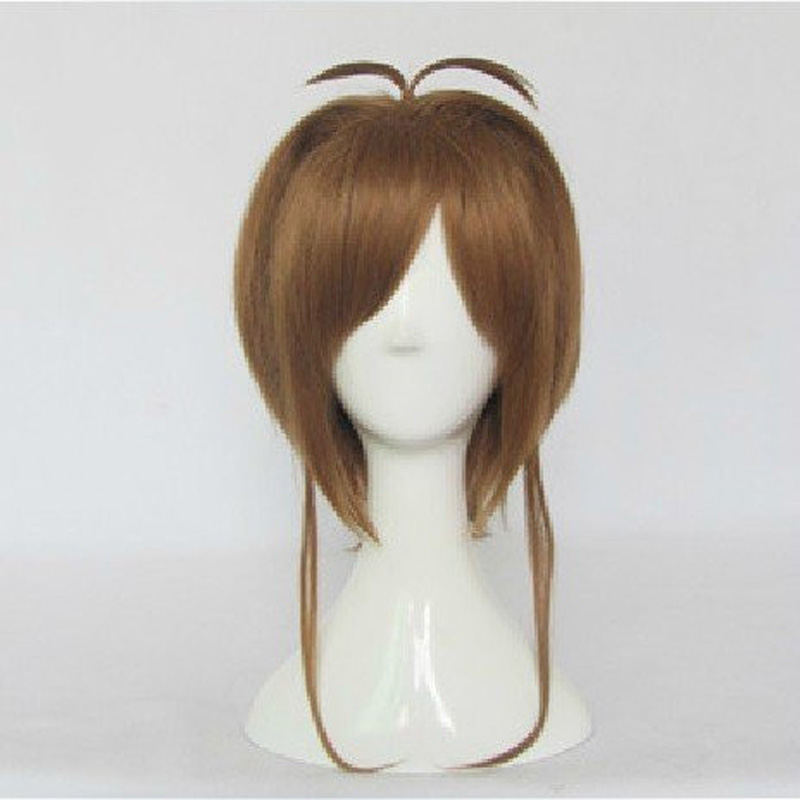 HAIRJOY High Quality Light Brown Card Captor Sakura Cospaly Wigs Straight  Girl Synthetic Hair  Party Wig<br><br>Aliexpress