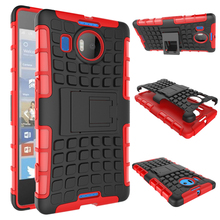 Quality Rugged Kickstand Armor Case for Microsoft Nokia Lumia 950XL 950 XL Hard Shock Proof Case With Stand Phone Accessory