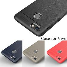 Luxury Litchi Texture Soft TPU Cases for Vivo X6 X7 X9s X20 Plus V5s V5  lite V7 Plus Y21 Y22 Y51 Y55 Y66 Y67 Y69 Y75 Cover 3be4ed244489
