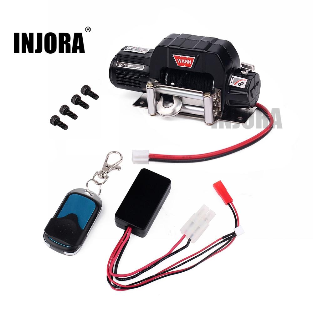 RC Car Metal Winch + Wireless Remote Receiver for 1:10 RC Crawler Car Axial SCX10 RC4WD D90 Traxxas TRX-4<br>