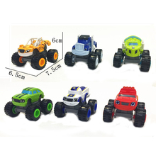 Hot 6pcs Big Transformation Blaze Toys Sliding Vehicle Cars Machines Kids Toys for Children Boys Educational Fun Birthday Gifts