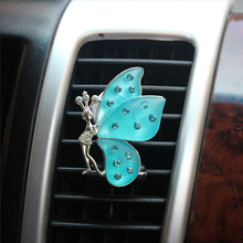 Car Air Vent Perfume Auto Decors Scented Tea Air Freshener Solid Fragrance Cute Butterfly Shape Funny Car-styling