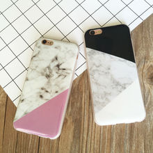 Marble Stone pattern Painted Soft TPU phone Cover For iPhone 5 5S 6 6S 6plus 6Splus 7 7plus Mobile Phone Bags Rubber shell Case(China)