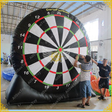 2017 Giant PVC Inflatable Foot Darts, Inflatable Soccer Dart Board, Inflatable Football Darts Game,Big Balls Included(China)
