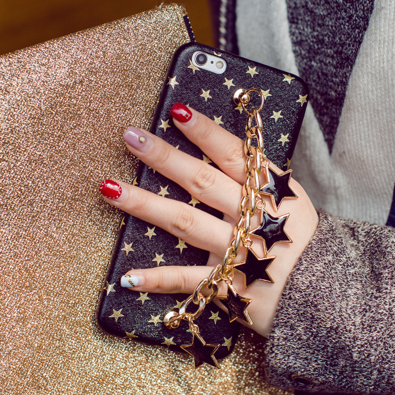 New-Luxury-Stars-Chain-Pendant-Tassel-Bracelet-Case-For-iPhone-7-7-8Plus-6-6S-Plus