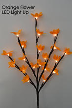 "LED Battery Blossom Forsytia Branch Light 20"" 20LED Light Up Forsytia Branch wedding table decoration branch twig light(China)"