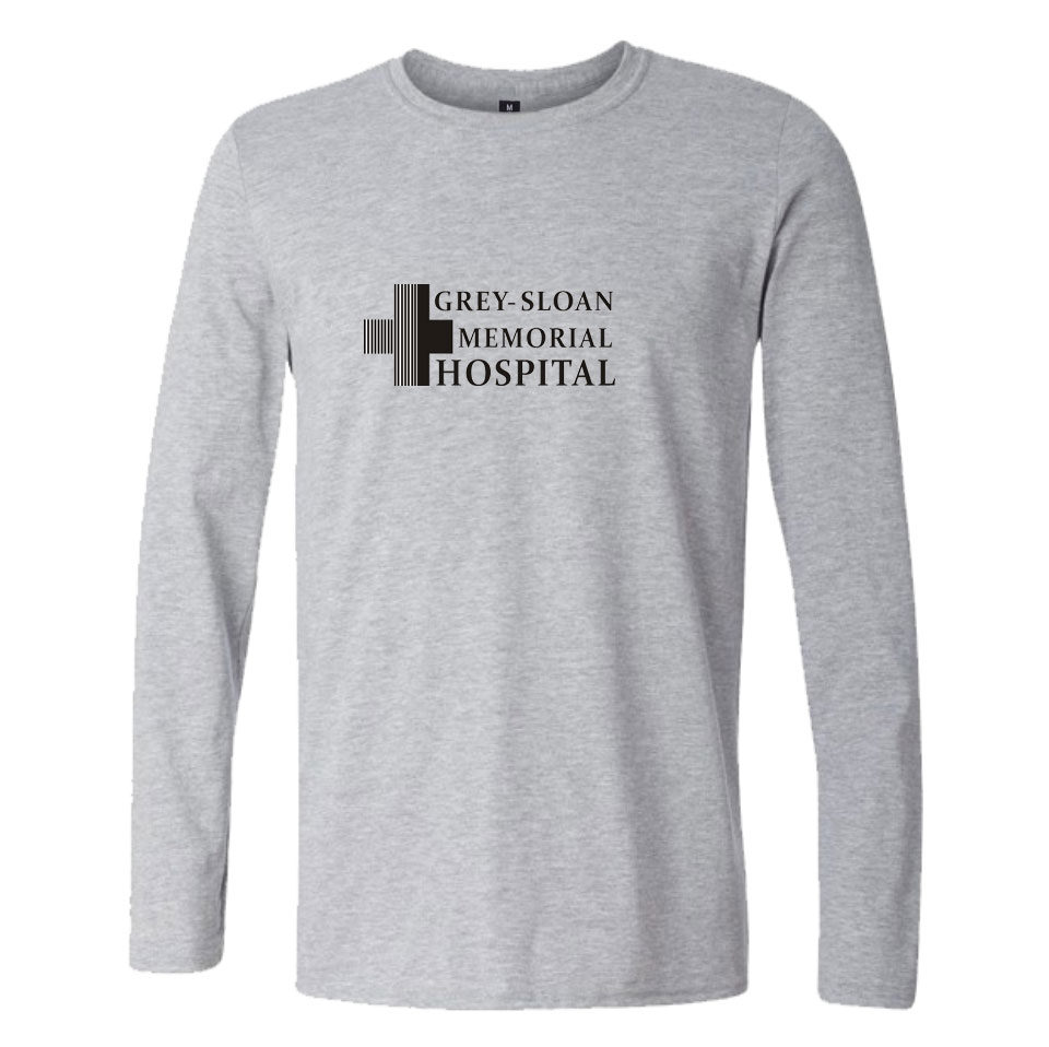 Grey/\'s Anatomy T-shirts Casual Letters Printed Grey Sloan Memorial ...