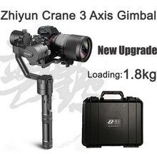 Zhiyun Crane 3-axis Stabilizer Handheld Gimbal Load 1.8KG Wireless remote Dual handle for DSLR Canon Nikon Sony Alpha7(China)
