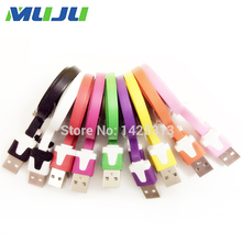 2000pcs/lot Factory Price Flat Noodle USB 8pin Data Sync Charger Cable For iPhone 6 6s plus SE 5s 5 iPad Air Pro mini 2 4 iPod 6