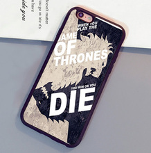 Game of throne You WIN OR DIE Printed Mobile Phone Cases For iPhone 6 6S Plus 7 7 Plus 5 5S 5C SE 4S Soft Rubber Skin Back Cover