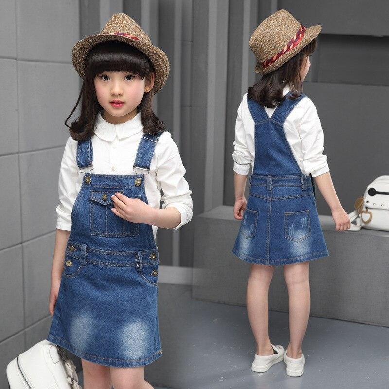 Drop shipping 2017 New Spring Summer Kids Girls denim dress overall nice quality fashion children dresses A398<br><br>Aliexpress