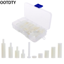 OOTDTY M3 Nylon Hex Spacers Screw Nut Assortment Kit Stand off Plastic Accessories Set -B119