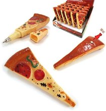 Hot sale student stationery   new arrival fashion cute Novelty pizza Magnetic ball pen.student tool school office use .Office&St