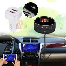 Bluetooth 3.0+EDR Receiver Full Chanel FM Transmitter Multifunction Car Charger handsfree bluetooth car kit AUX USB TF card(China)